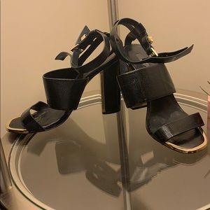 Top Shop Leather Block Heels